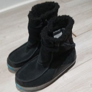 Columbia black suede winter boots GUC size 7.5